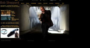 Saxophonist extrordinaire, Bob Sheppard's site features his great CDs, reviews and interviews.