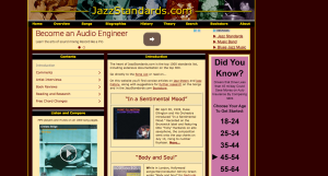 Jeremy Wilson's incredible site lists the 1000 most common jazz standards. Great for research.